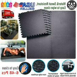 6-48× Home Exercise Mat Protective Flooring Mats with EVA F