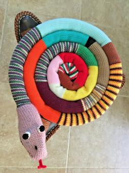 Bar stool pad/Kids chair pad/floor pillow snake handmade hom