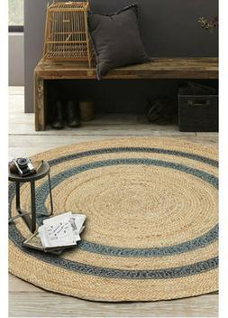 Braided Natural Woven Handmade Home Living Jute Floor Carpet