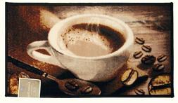 Kashi Home Coffee Bean Kitchen Accent Area Rug Floor Mat Car