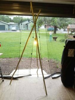 Handmade Home Decor Bamboo Tri Pod Floor Lamp