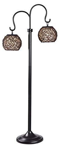 Kenroy Home 32246BRZ Castillo Outdoor Floor Lamp, Bronze Fin