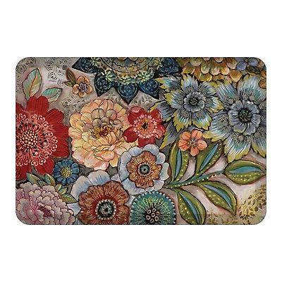 boho bouquet floor mat