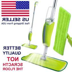 Microfiber Spray Mop Cleaner Kit Home Floor Dust Mop Kitchen