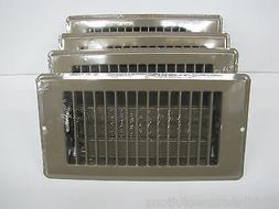 "Mobile Home RV Parts. Floor Register 4"" x 8"". Brown Metal Fl"