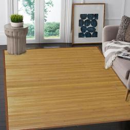 Natural Bamboo 5' X 8' Floor Mat, Bamboo Area Rug Indoor Car