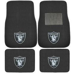 New 4pcs NFL Oakland Raiders Car Truck Front Rear Carpet Flo