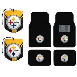 NFL Pittsburgh Steelers Car Truck Carpet Floor Mats & Hangin