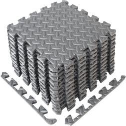 Yoga Puzzle Exercise Mat EVA Foam Interlocking Tile Protecti